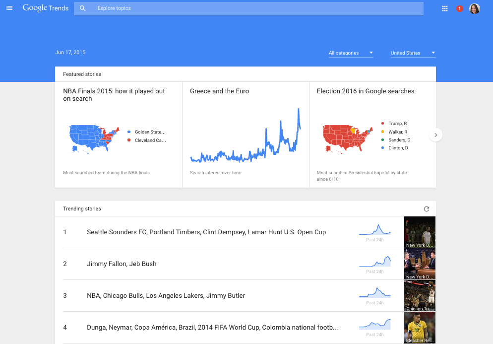 Google Trends New Update To Provide Minute By Minute Data Of Trending Search
