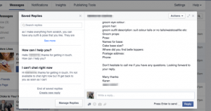 Facebook Saved Replies Tool